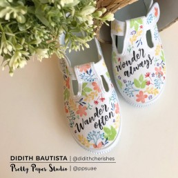 DIY Stamp and Letter on Sneakers 1